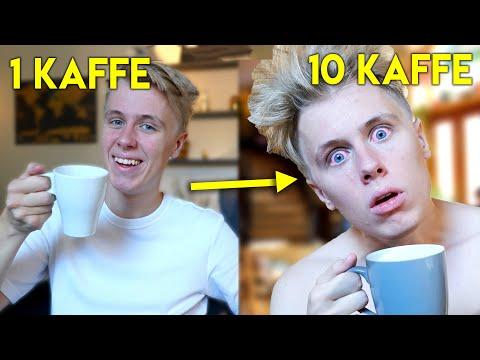 Dricker 10 koppar kaffe på EN TIMME