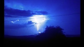 Blue Lightning at the end please like carrick on suir Ireland Lightning Storm with Rare Blue Lightning over Ireland 19/07/2017.