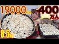 【HIT 4 MILLION SUBSCRIBERS!!】 THE BEST 400 Dumplings EVER!! MAKE n EAT IT! 85Kg 19000kcal[Use CC]