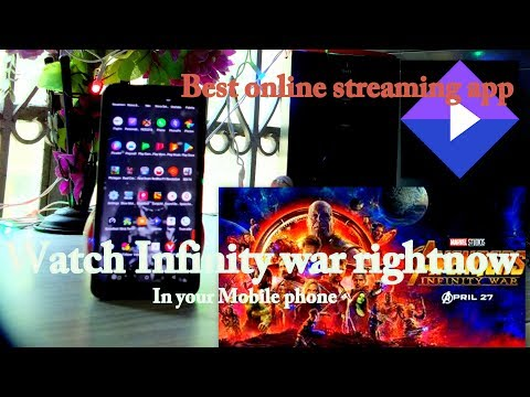 Avengers infinity war on fire stick, Smart tv and smart phone also.. best streaming app ever..
