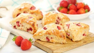 Strawberry Scones | Easy + Delicious Summer Baking by The Domestic Geek