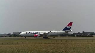 Air Serbia airbus A330-200 (YU-ARA) landing from New York JFK to Belgrade BEG on 22.7.2017. After few hours of resting, she...