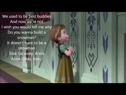 "Do You Want to Build a Snowman? (w/ lyrics) From Disney's ""Frozen"""
