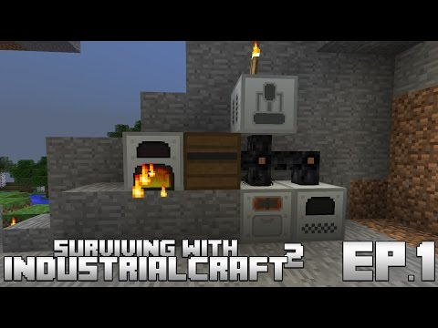 Surviving With IndustrialCraft 2 :: Ep.1 - Basic Power & Machines