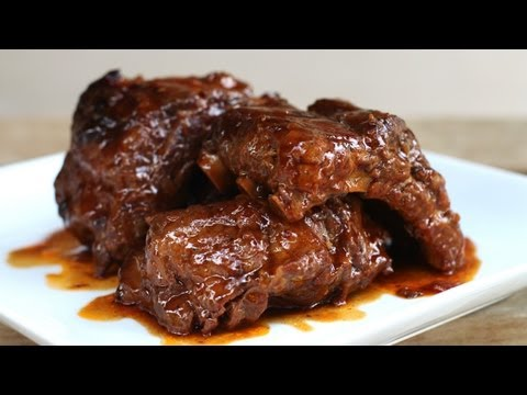 How to Make an Asian Barbecue Pork Ribs in Slow Cooker – Sườn heo hầm sốt BBQ kiểu Mỹ