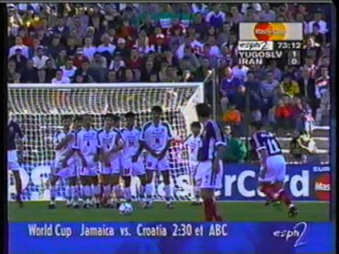 1998 (June 14) Yugoslavia 1-Iran 0 (World Cup).mpg