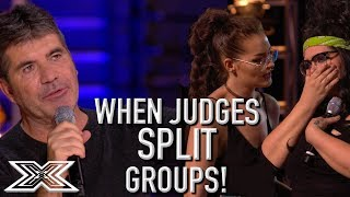 Video When Judges SPLIT GROUPS On X Factor UK! | X Factor Global MP3, 3GP, MP4, WEBM, AVI, FLV Juni 2019