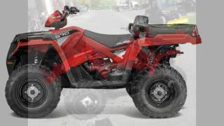 9. Polaris Sportsman X2 570 EPS SUnset Red