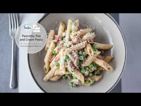 Everyday Gourmet Pancetta Pea & Cream Pasta