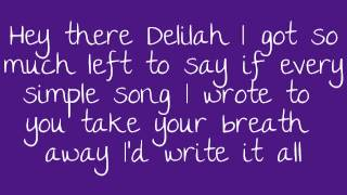 Video Hey There Delilah Lyrics MP3, 3GP, MP4, WEBM, AVI, FLV Agustus 2018
