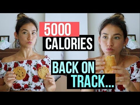 Eating 5000 CALORIES to get back on TRACK...