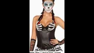 SKELETON CORSET - HALLOWEEN TOP - SPOOKY FANCY DRESS CORSETS - BONY HANDS