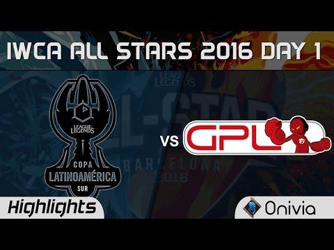 LAS vs GPL Highlights IWCA Barcelona 2016 D1 Latin America South vs Southeast Asia
