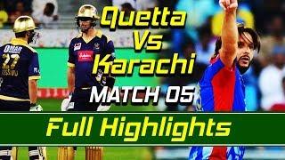 Quetta Gladiators vs Karachi Kings I Full Highlights | Match 5 | HBL PSL