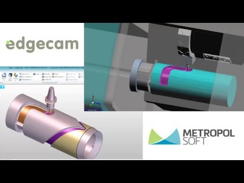 EDGECAM 4 AXIS MILLTURN2 (видео)