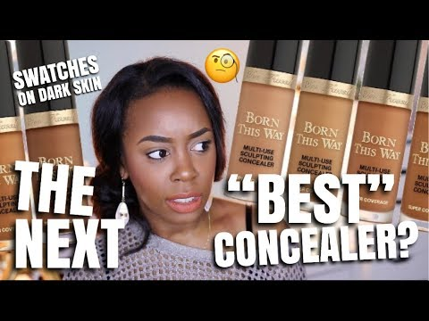 NEW! TOO FACED SUPER COVERAGE MULTI-USE SCULPTING CONCEALER ON DARK SKIN | Andrea Renee (видео)