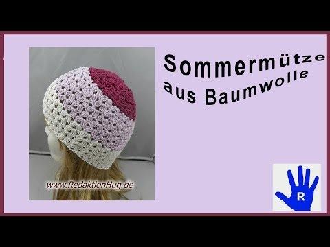 Häkeln – Mütze Sommer – Baumwolle von Pro Lana