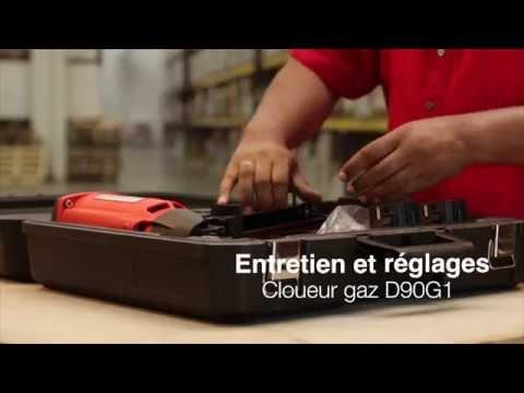 Cloueur gaz bois D 90 G1