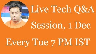#108 Live Tech Q&A Session with Geekyranjit - 1 Dec 2015