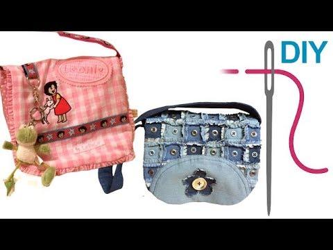"""Kindergartentasche / einfache Tasche / Kita Tasche selber nähen, """"LOTTA"""" – nähen für Anfänger"""