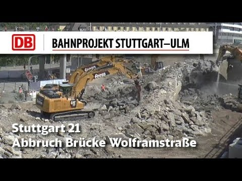 Zeitraffer Abbruch Brücke Wolframstraße