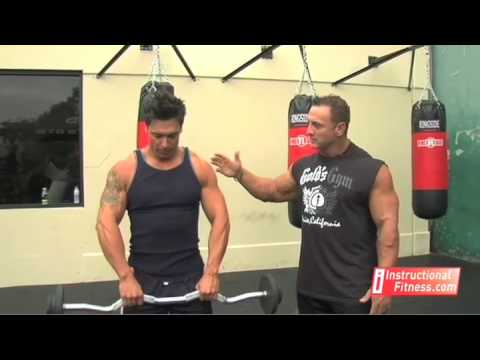 upright - http://www.instructionalfitness.com Personal fitness trainer Joe Tong teaches the proper way to do barbell upright rows and wide grip upright rows. If you ha...