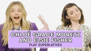 Chloë Grace Moretz and Elsie Fisher from The Addams Family Play Superlatives | Superlatives by Seventeen Magazine