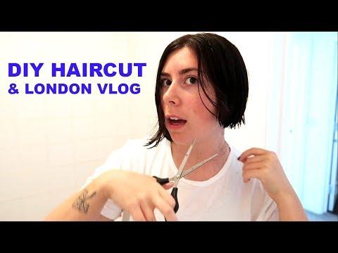 Hair cutting - CUTTING MY OWN HAIR & WEEKEND LONDON VLOG