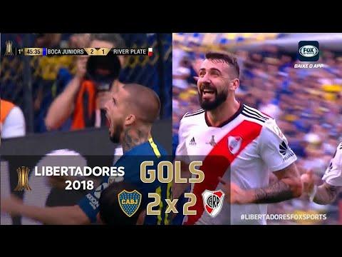 (ARG) Boca Juniors 2 X 2 (ARG) River Plate Final da Libertadores 11/11/2018  jogo Da Ida HD⅝