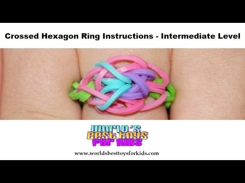 Rainbow Loom Rubber Band Refill – Crossed Hexagon Ring Instructions
