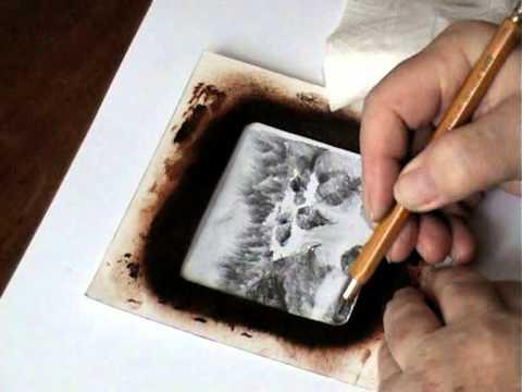 Navod Kresba Tuzkou Reka Pencil Drawing The River