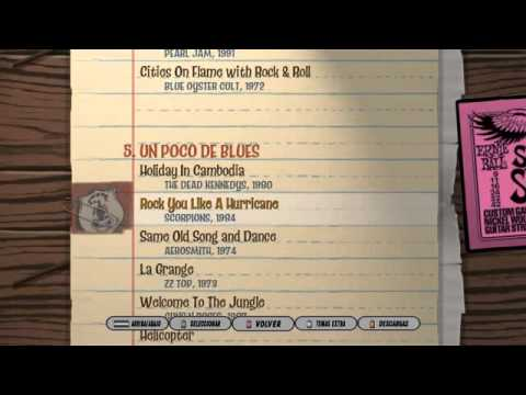 Lista de canciones-Guitar Hero 3 Legend Of Rock
