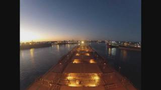 Port Hedland Australia  City pictures : Ship arriving and departing Port Hedland, Western Australia