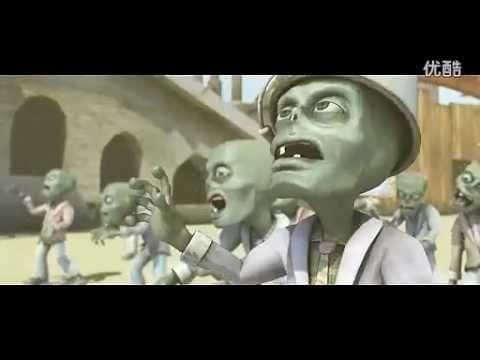 殭屍大戰植物電影版,想打敗植物果然是幻想!