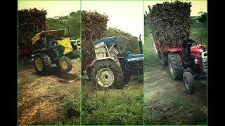 John Deere 5310 vs New Holland 3630 vs Massey Ferguson 9500 Same load Tractor Power Check