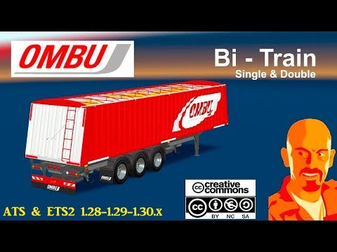 OMBU BI-TRAIN (SINGLE & DOUBLE) ETS2 1.28 - 1.30.x