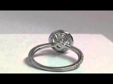 1.00 Carat Diamond in Halo Setting