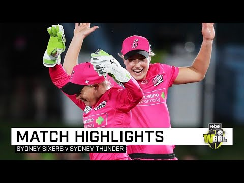 Perry's Sixers too strong for Thunder in WBBL opener | Rebel WBBL|05
