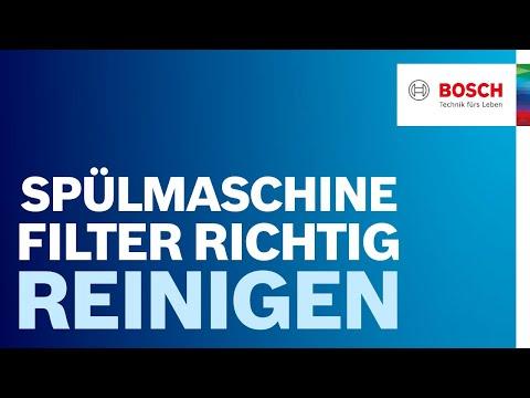 Spülmaschine Filter reinigen: Anleitung & Tipps von Bosch