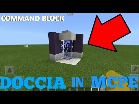 COME CREARE UNA DOCCIA FUNZIONANTE IN MINECRAFT PE(Command Block MCPE)