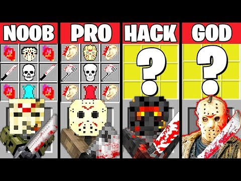 Minecraft Battle: JASON MONSTER MUTANT CRAFTING CHALLENGE - NOOB vs PRO vs HACKER vs GOD ~ Animation
