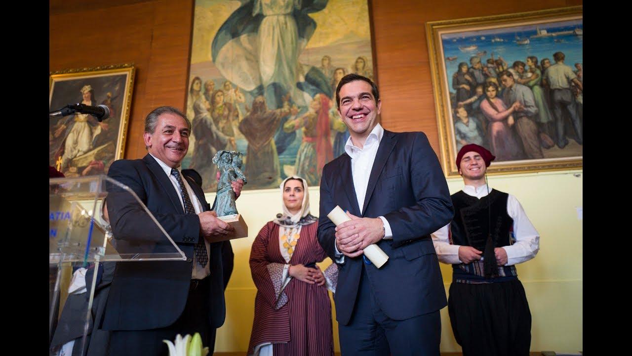 Χαιρετισμός για την ανακήρυξη σε επίτιμο δημότη Καλύμνου