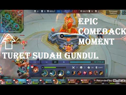 Epic comeback moment, turret tinggal satu jangan menyerah