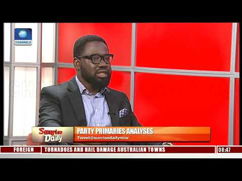 Channels TV Data Analyst, Babajide Ogunsanwo Analyses Party Primaries |Sunrise Daily|