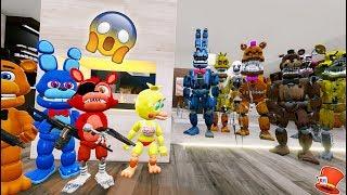 CAN FNAF WORLD HIDE FROM THE NIGHTMARE ANIMATRONICS? (GTA 5 Mods For Kids FNAF RedHatter)