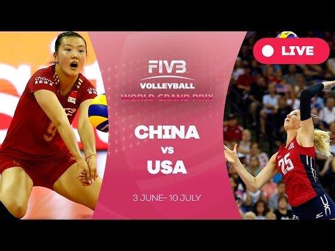 จีน 3-1 สหรัฐอเมริกา 12 มิ.ย. 59 วอลเลย์บอลเวิลด์กรังด์ปรีซ์ WGP 2016