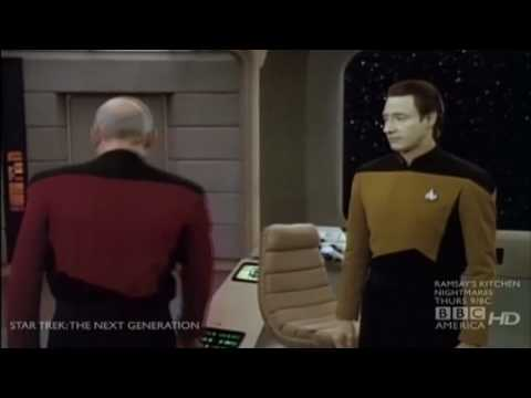 Data orders Picard to bed