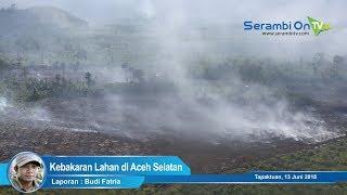 Video Udara Kebakaran Lahan di Aceh Selatan
