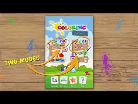 Video of Kids Coloring and Math Free