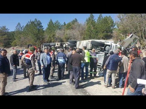Gediz-Hisarcık karayolunda trafik kazası: 1 yaralı